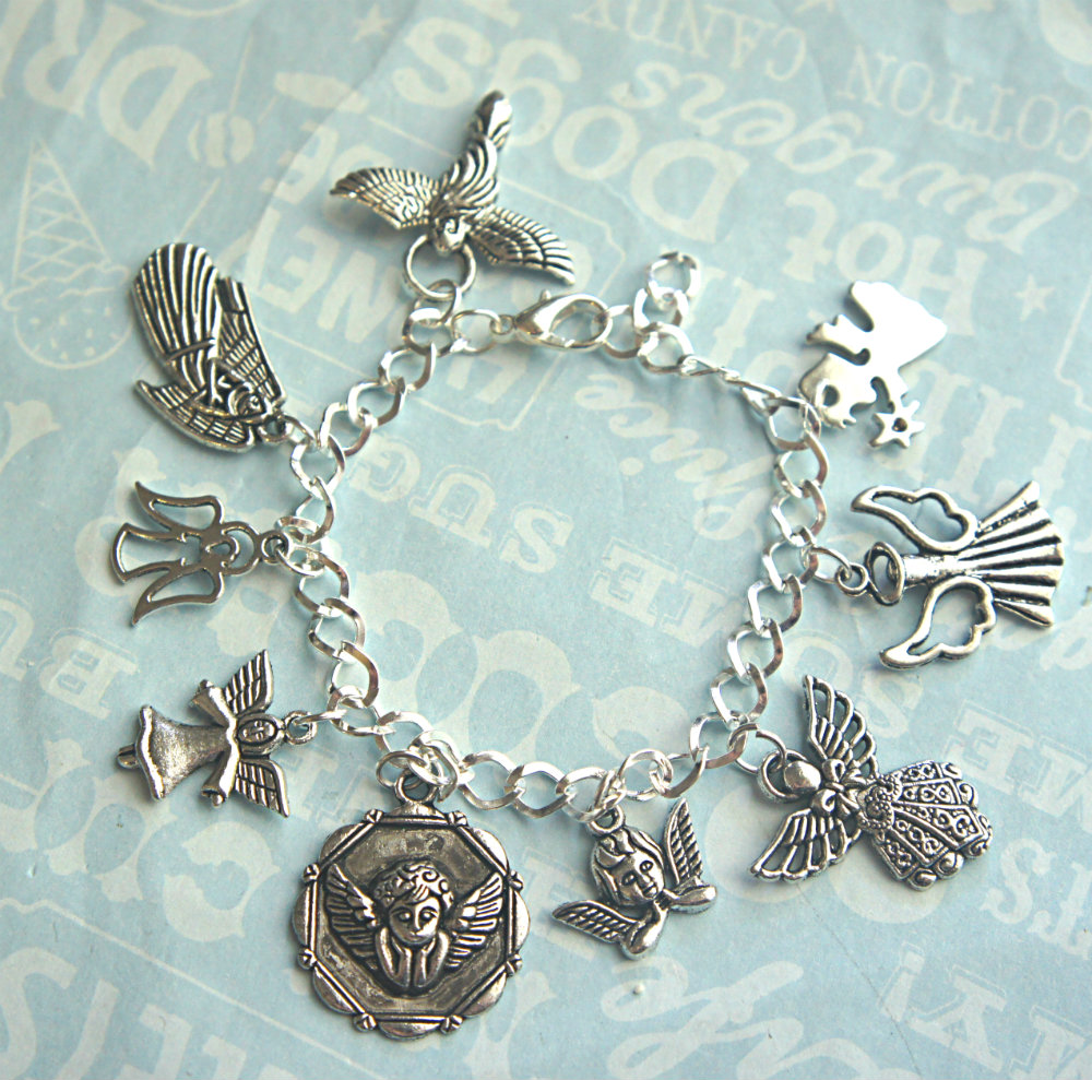 Popular Charm Bracelets 2: Guardian Angel Charm Bracelet On Luulla